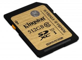 Kingston presenta tarjeta con capacidad de almacenamiento de 512GB