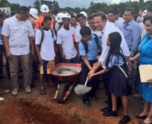 Gobierno apuntala centros educativos en Chiriquí: B/. 38mm para inversión
