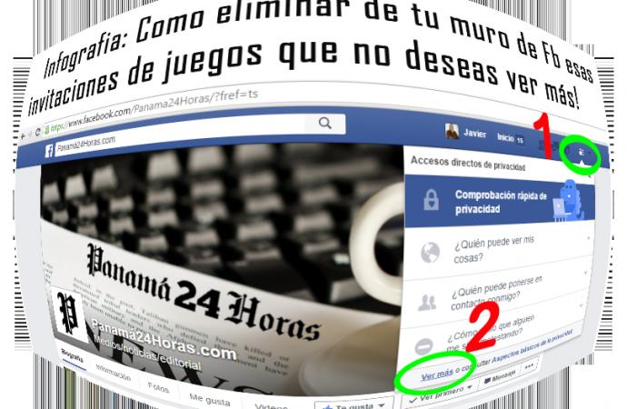 Infografía: Como eliminar de tu muro de Fb esas invitaciones de juegos no deseados