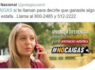 Servicio Público: Denuncia llamadas sospechosas