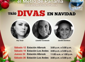 Metro de Panamá te invita a celebrar su segunda navidad con Villancicos