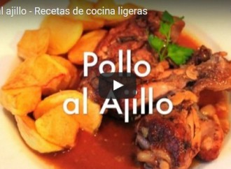 Receta de Pollo al Ajillo (Vídeo)