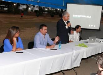 Vecinos participan en las propuestas para renovar el Parque Urracá