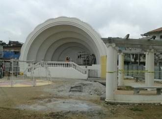 Obras del Parque 5 de Noviembre en provincia de Colón presentan avance del 60%
