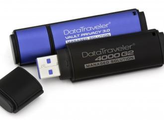 Kingston Technology lanza dispositivos USB Flash encriptados por hardware y listos para ser administrados