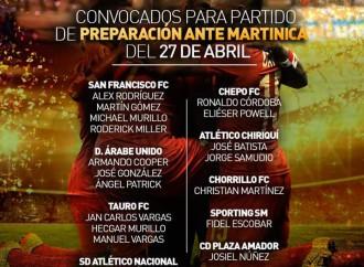 Estos son los convocados para el partido de fútbol ante Martinica