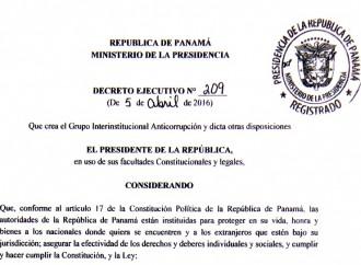 Gobierno crea Grupo Interinstitucional Anticorrupción para garantizar transparencia en Organismos de Seguridad Pública