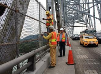 El MOP realiza trabajos de mantenimiento al Puente de Las Américas
