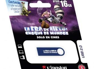 """Vive al máximo la nueva aventura de Scrat con los USBs edición limitada de la película """"La Era de Hielo: Choque de Mundos"""" de Kingston"""