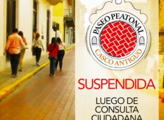 Tras consulta pública quedó suspendido Paseo Peatonal en Casco Antiguo