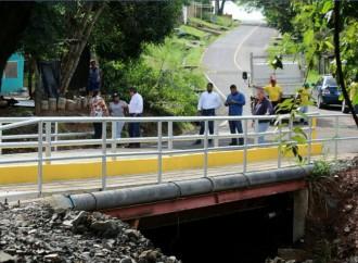 Comunidad de Llano Largo de La Chorrera estrena puente vehicular