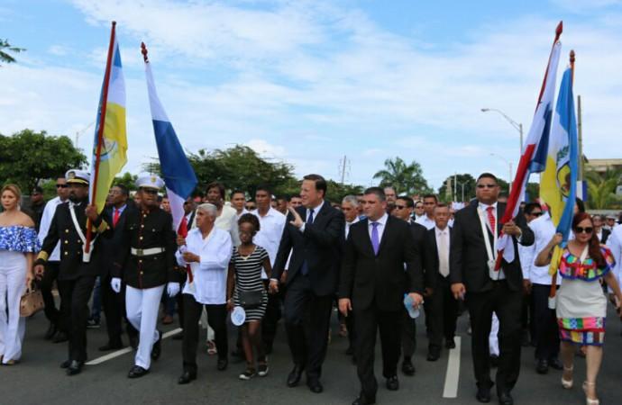 Presidente Varela celebra con los colonenses la consolidación de la gesta separatista