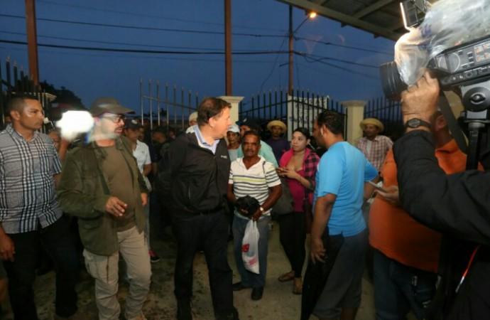 Presidente Varela recorre Arraiján y Panamá Norte para dar respuesta a afectados por las lluvias