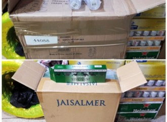 Autoridades decomisan mercancía de presunto Contrabando en colón