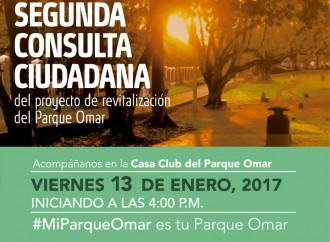 Participa este viernes 13 en la 2° Consulta Ciudadana del proyecto de Revitalización del Parque Omar