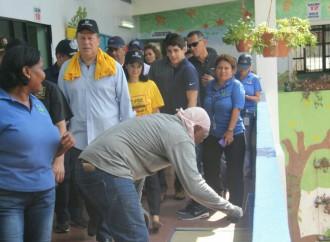Presidente Varela lidera jornada de mantenimiento escolar como parte del voluntariado institucional