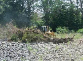 Autoridades canalizan río Jacú en Bugaba para contrarestar inundaciones