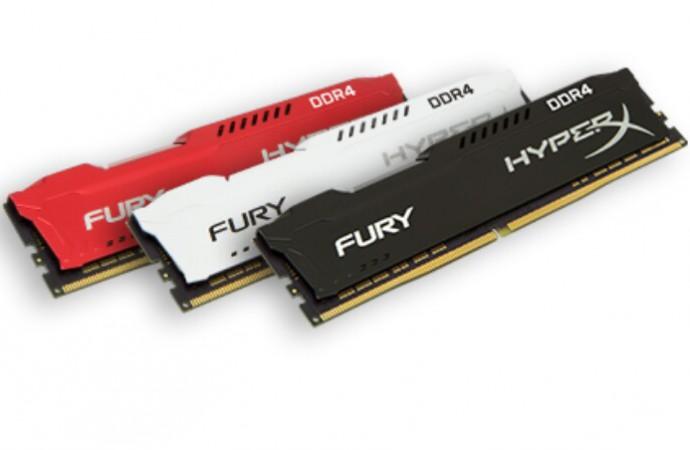 HyperX expande línea de memoria FURY DDR4 con overclocking automático plug-and-play