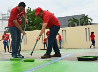Voluntarios institucionales donan su tiempo en apoyo a los CAI de Casa Esperanza