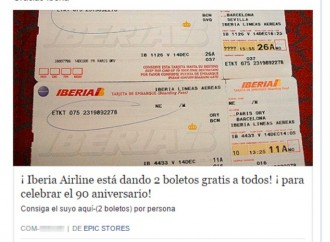 Iberia no está regalando vuelos: ESET advierte sobre falsos viajes gratis