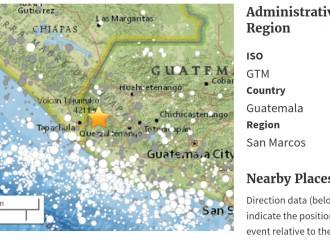 Terremoto de 6.9 grados sacude Guatemala y México