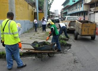 MOP realiza acciones de mantenimiento vial y ornato de la ciudad