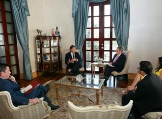 Varela dialoga sobre seguridad y flujos migratorios en la región con el secretario general del SICA