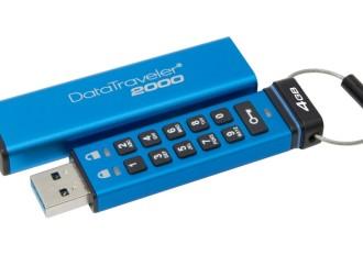 Kingston agrega capacidades de 4GB y 8GB a su unidad USB cifrada DataTraveler 2000