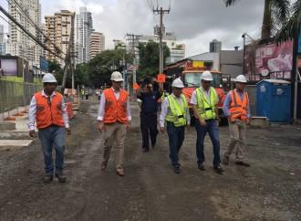 Alcaldía de Panamá inspecciona avances en trabajos del proyecto Renovación Urbana de Calle Uruguay
