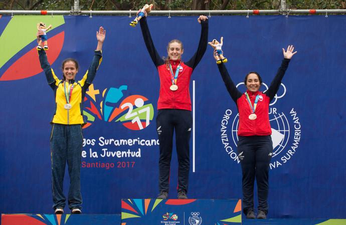Colombia y Chile se coronan campeones en primera jornada del Mountainbike