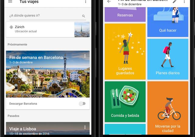 Planea tus vacaciones con Google Trips en español