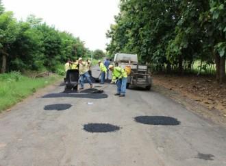 MOP realiza jornada de parcheo en diferentes corregimientos de la provincia de Herrera