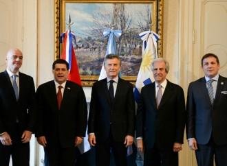 Argentina, Uruguay y Paraguay lanzan candidatura conjunta para organizar Mundial de Fútbol 2030