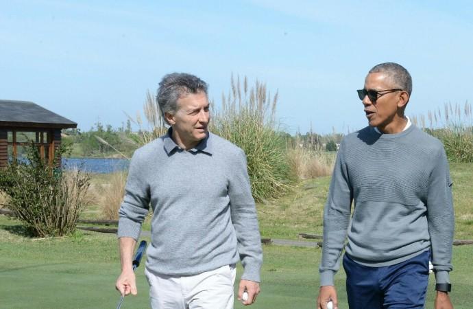 Macri recibió la visita del ex presidente de EE.UU. Barack Obama