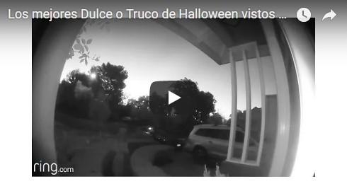 Mira los videos más insólitos de Dulce o Truco que quedaron captados por el vídeo timbre Ring