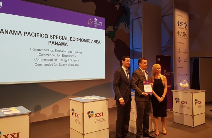"Panamá Pacífico premiado con cuatro galardones en el ""Global Free Zones of the Year 2017"""