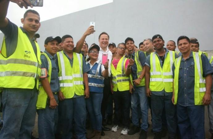 Presidente Varela verifica exitosa rebaja del pasaje en corredores y ratifica avance del plan de movilidad urbana