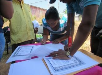 Más de 250 familias en Chiriquí cuentan con sus Asignaciones de lotes