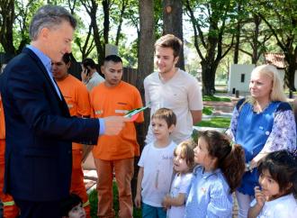 Presidente Macri inauguró el Paseo de la República, un espacio abierto al público junto a la Quinta de Olivos