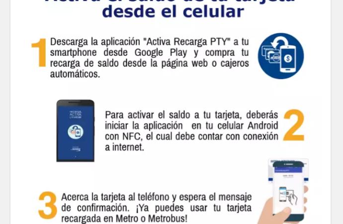 SONDA Panamá lanza un nuevo canal de activación de recargas electrónicas para el Metro y MetroBus