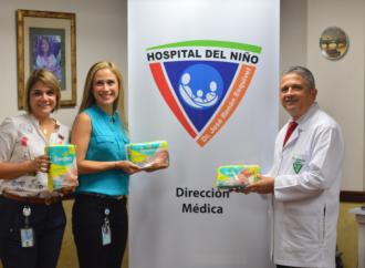 Pampers entregó al Hospital del Niño 10 mil pañales para bebés prematuros