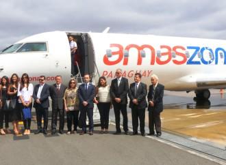 Amaszonas abre nuevas rutas que unen Paraguay y Brasil