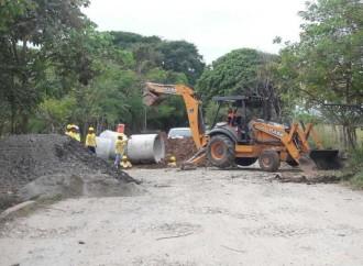 MOP inicio trabajos en proyecto de las calles internas de Antón, en Coclé