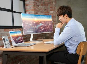 Samsung presenta el primer monitor curvo QLED Thunderbolt 3 en el CES 2018