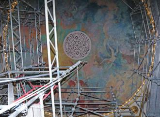 """Trabajos de restauración arquitectónica integral del Teatro Nacional """"están a tiempos con el avance previsto"""" a la fecha"""