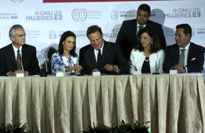 Presidente y Vicepresidenta lideran lanzamiento deCoalición Global de Igualdad Salarial