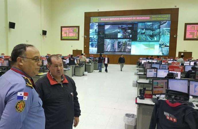 Autoridades del BCBRP visitaron el Servicio Integrado de Seguridad ECU 911