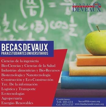 Fundación Deveaux inició convocatoria de becas para carreras científicas y técnicas