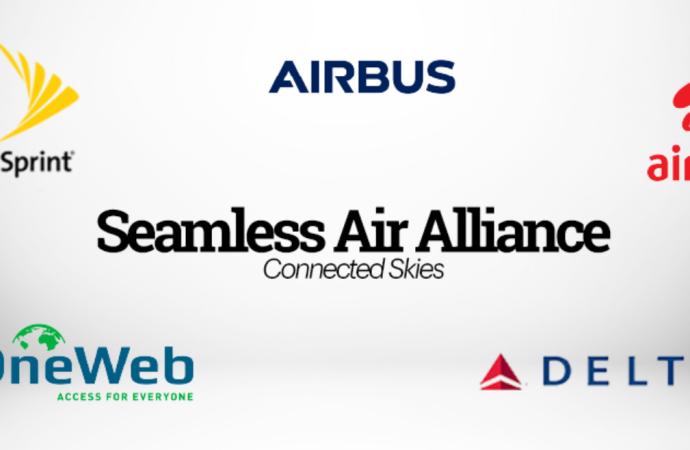 Airbus, Delta, OneWeb, Sprint, Airtel anuncian la formación de la alianza Seamless Air Alliance, que permitirá que las aerolíneas puedan ofrecer a los pasajeros una experiencia de conectividad integrada en la cabina