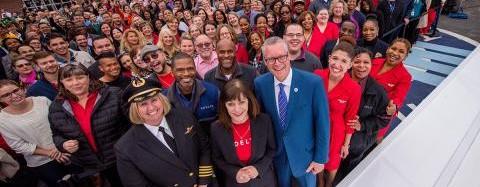 Delta paga a sus empleados más de mil millones de dólares en participación en los beneficios por cuarto año consecutivo